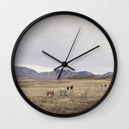 Minimalistic Westen Landscape Wall Clock