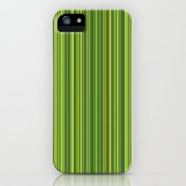 Many multicolored strips in the green sample iPhone Case