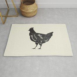 Chicken Butcher Diagram Rug