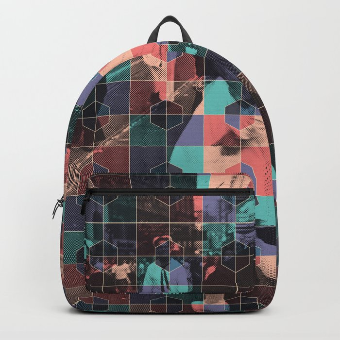 Old love kiss + Hexagon pattern Backpack