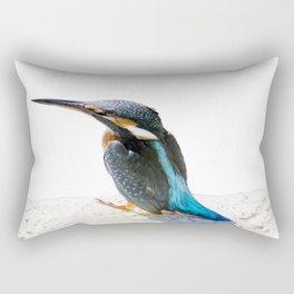 A Beautiful Kingfisher Bird Vector Rectangular Pillow