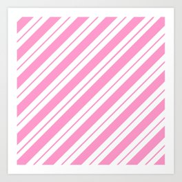Rose Quartz Peppermint Art Print