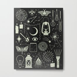 Light the Way: Glow Metal Print