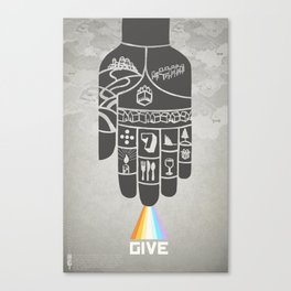 Poster Project   Hospitality Hand Canvas Print
