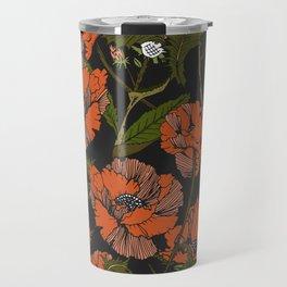Autumnal flowering of poppies Travel Mug