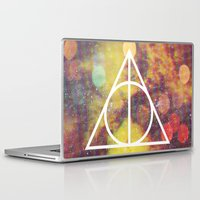 deathly hallows Laptop & iPad Skins featuring Deathly Hallows by Michal