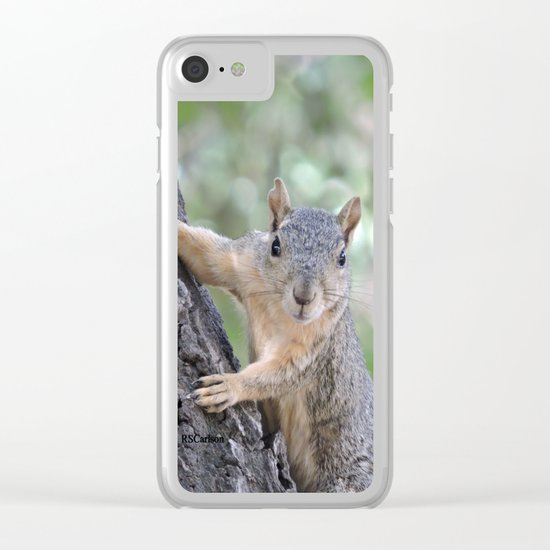 The Who You Lookin At Squirrel Clear iPhone Case