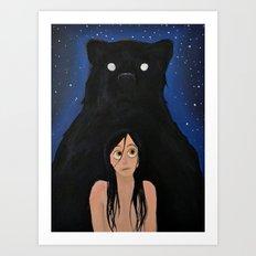Bear Night Art Print