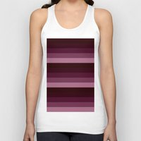 burgundy Tank Tops featuring burgundy stripes by SimplyChic