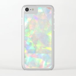Milky White Opal Clear iPhone Case
