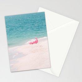 Pink Flamingo Beach Stationery Cards