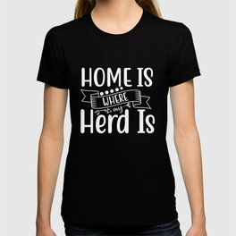 Funny Herd Design For Farm Animal Lovers, Farming Gift design T-shirt