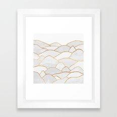 White Hills Framed Art Print