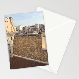 the roofs of Paris Stationery Cards