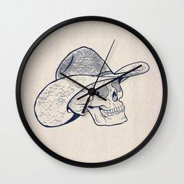 Cowboy Skull with Halftones Wall Clock