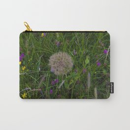 Field of flowers and Dandelions Carry-All Pouch