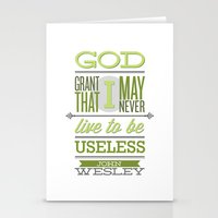 wesley bird Stationery Cards featuring John Wesley Quote by Tony D'Amico