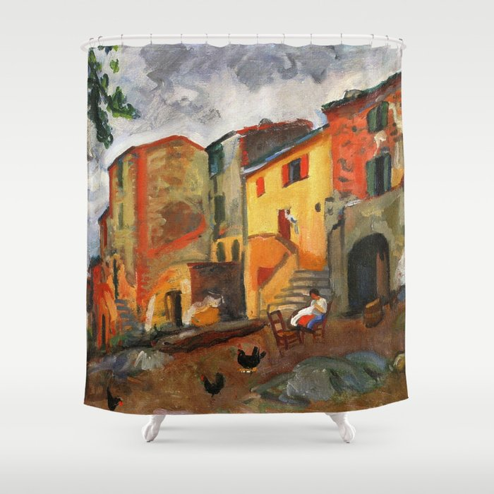 Charles Camoin - Village Street, Collioure Shower Curtain