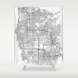 Minimal City Maps - Map Of Las Vegas, Nevada, United States Shower Curtain