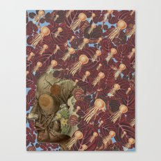 just keep swimming anatomical collage by bedelgeuse Canvas Print