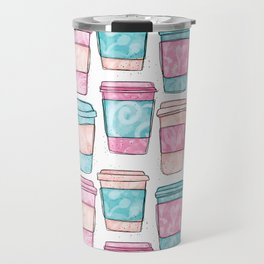 Coffee Cups   Original Mint and Pink Palette Travel Mug