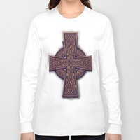 celtic Long Sleeve T-shirts featuring Celtic Cross by pakowacz