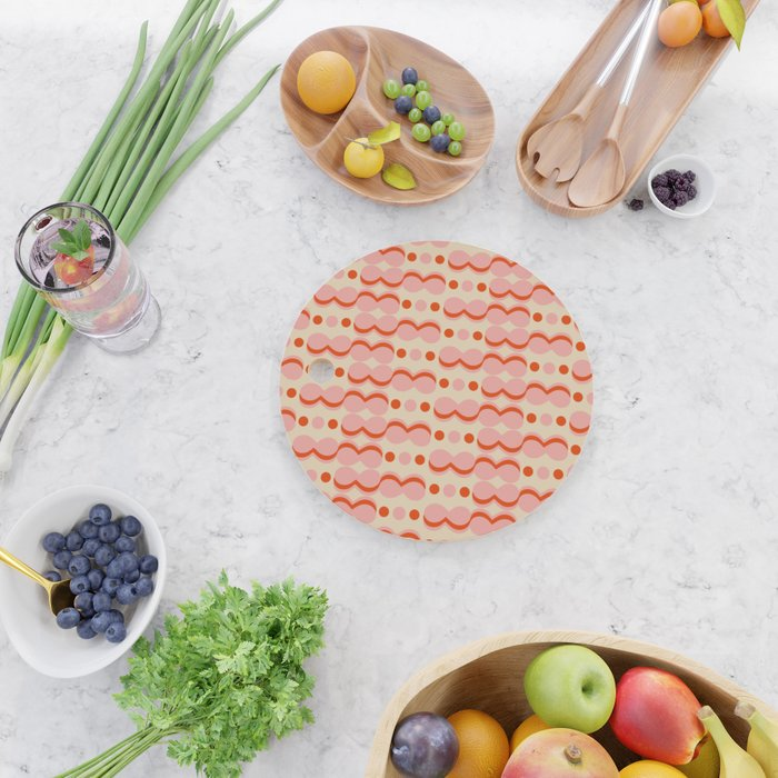 Uende Love - Geometric and bold retro shapes Cutting Board