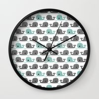 moby Wall Clocks featuring Moby by Tradewind Creative