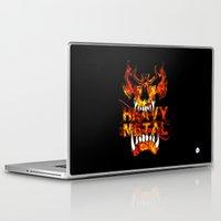 heavy metal Laptop & iPad Skins featuring Heavy Metal by Lindsay Spillsbury