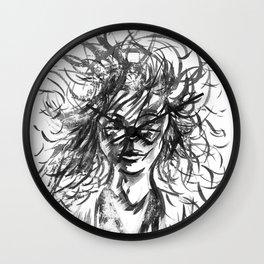 A little Stray Hair Wall Clock