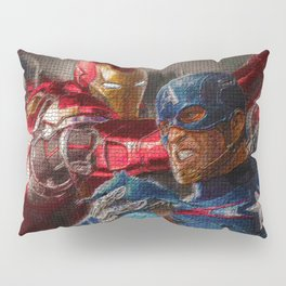 War of superhero Pillow Sham
