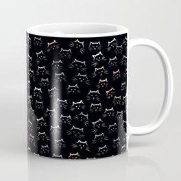 Cat - mouflage on Black Coffee Mug