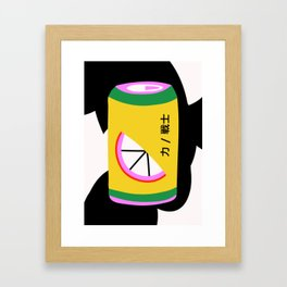 Orange Can Framed Art Print
