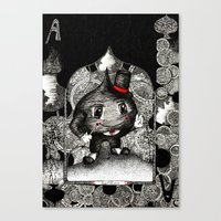 ace Canvas Prints featuring Ace by Anca Chelaru