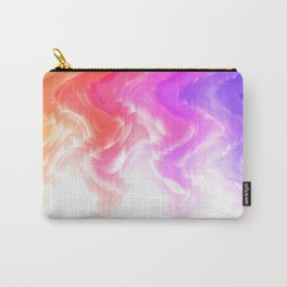 Rainbow smoke falling down, positive energy colorful pattern glitch Carry-All Pouch