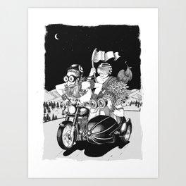 Babas on Bikes Art Print