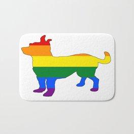 Rainbow Chihuahua Bath Mat