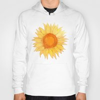 sunflowers Hoodies featuring Sunflowers by Sara Eshak