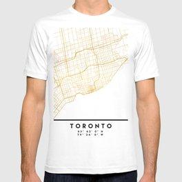 TORONTO CANADA CITY STREET MAP ART T-shirt