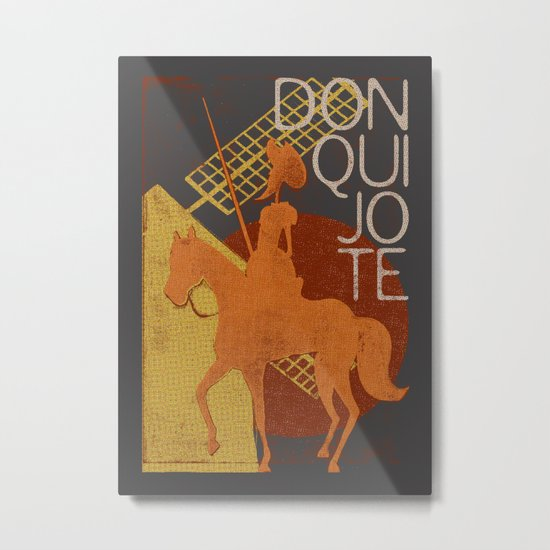 Books Collection: Don Quixote Metal Print
