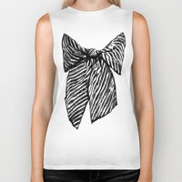 bow Biker Tanks featuring Bow by Samantha Turnbull