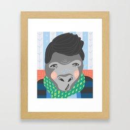 A Very Gentrified Gorilla Print Framed Art Print