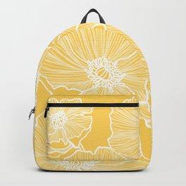Sunshine Yellow Poppies Backpack