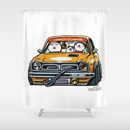 Crazy Car Art 0153 Shower Curtain