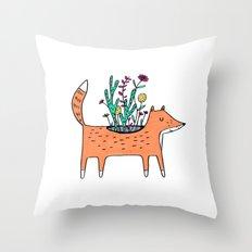 Flora and Fauna Throw Pillow