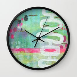 Creative Flourish I by Kimberly Schulz Wall Clock