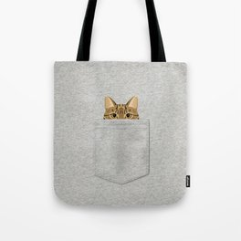 Pocket Tabby Cat Tote Bag
