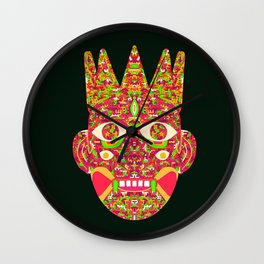 The Psychedelic Daemon I Wall Clock