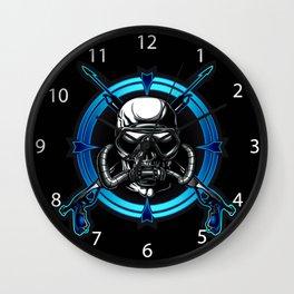 Diver Skull. Wall Clock