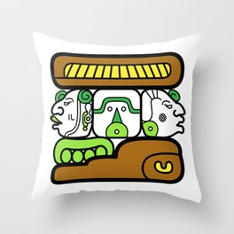 Familia en la Casa de Adobe Throw Pillow